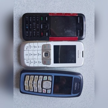 Telefony nokia 3 sztuki