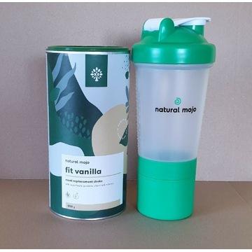 NATURAL MOJO SHAKE - Zestaw Fit Vanilla + shaker