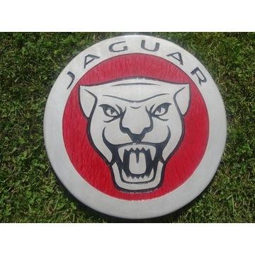Jaguar Ręcznie rzeźbione logo w drewnie. UNIKAT