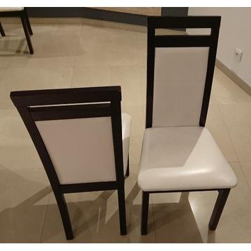 Krzesła 6 sztuk wenge skóra naturalna