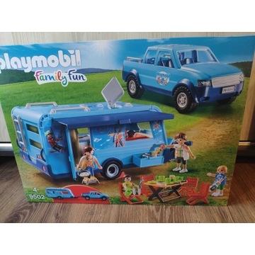 Pickup z przyczepą kempingową Playmobil okazja!
