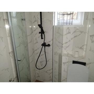 drzwi szklane prysznicowe składane