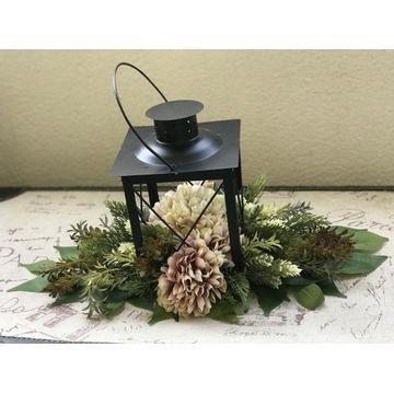 Lampion, kompozycja jesienna, rękodzieło.