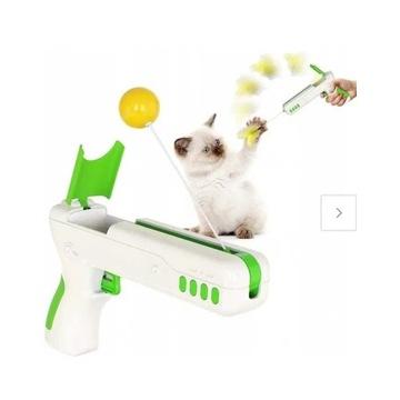 Zabawka dla kota PISTOLET z zabawkami interaktywna