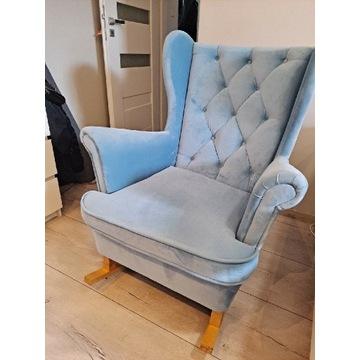 Fotel uszak bujany błękitny