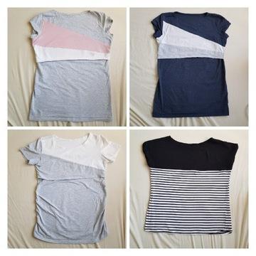 Koszulki 5 sztuk bluzki ciążowe i do karmienia L