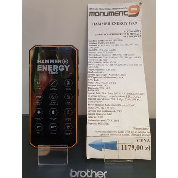 myPhone Hammer Energy 18x9 NOWY