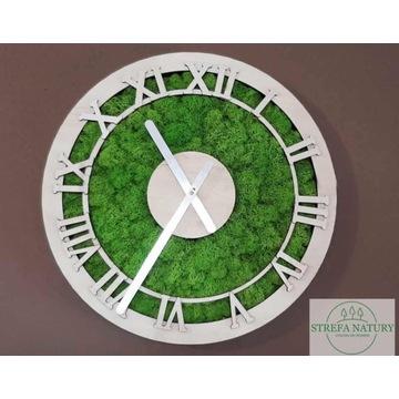 Zegar z mchem chrobotkiem