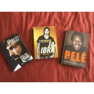 Książki zestaw Pele, Ibramowicz, Pirlo