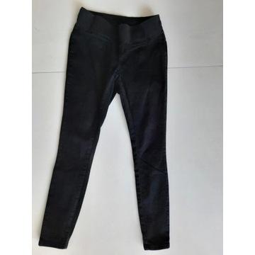 Czarne spodnie ciążowe rozmiar S 36 pod brzuszek