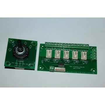 PCB Selektor analogowy + przełącznik 5ch