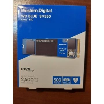Dysk SSD Western Digital WD Blue SN550 NVMe 500 GB