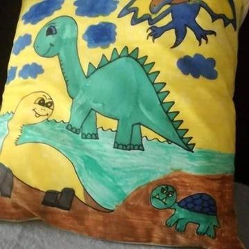 Poduszka do malowania Dinozaury zestaw z mazakami