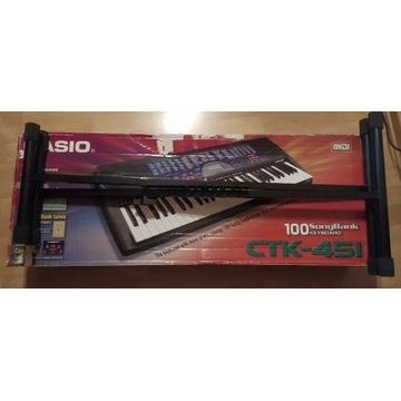 Keyboard organy Casio CTK-451 zestaw stojak gratis