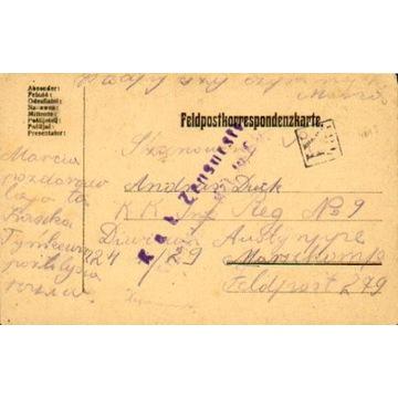 1917 - Morszyn (Stryj) - kamufl.st.okręg. IX-481