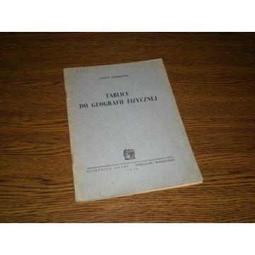 Tablice do geografii fizycznej - Zierhoffer - 1950