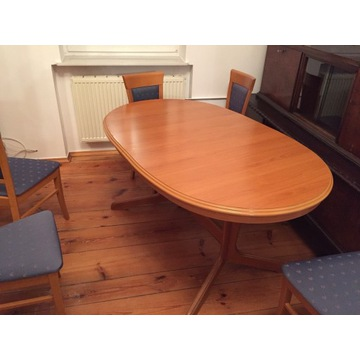Komplet rozkładany stół + 6 krzeseł