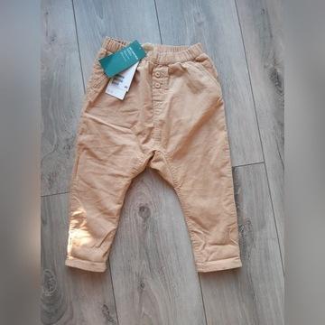 Spodnie sztruksowe h&m 86