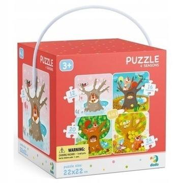 Puzzle Dodo 4w1 Pory roku NOWE