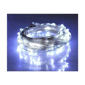 Lampki choinkowe 100LED, 10m, drut, SMD, 230V,3szt
