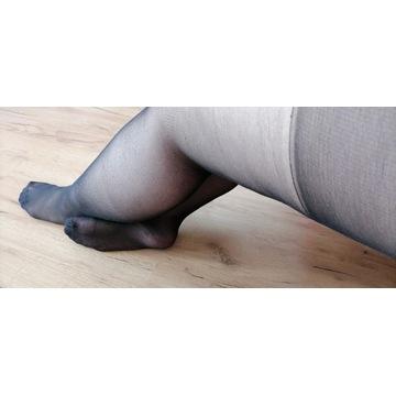 rajstopy czarne noszone używane fetysz stóp