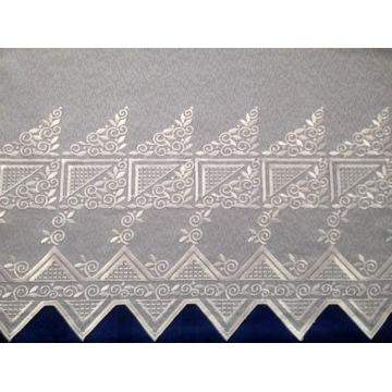 Firana gotowa, haft, wzór grecki 180 cm, metraż
