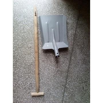 Duża ciężka metalowa łopata składana