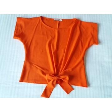 Bluzka Quiosque z wiązaniem pomarańczowa r. 38