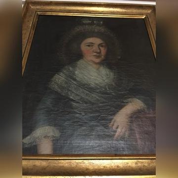 Barokowy portret szlachcianki po renowacji