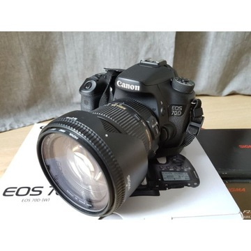 Aparat Canon 70D i Sigma17-50 2.8 EX DC OS HSM