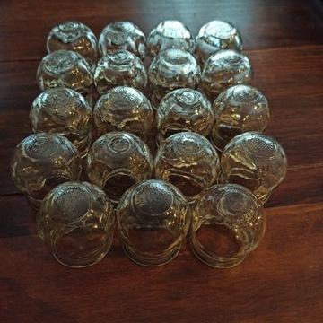 Stare lekarskie bańki szklane ogniowe 19 sztuk