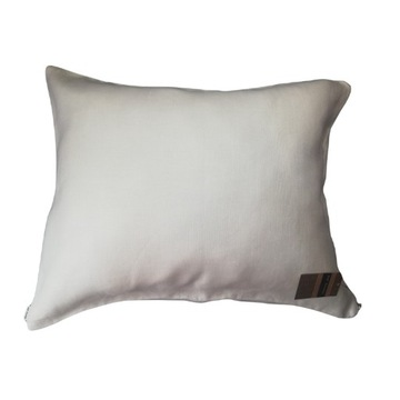 Poszewka lniana KM' Design 50x60 biała jodełka