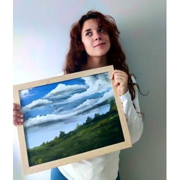Obraz akrylowy. Krajobraz wiejski. ~Talegirl.