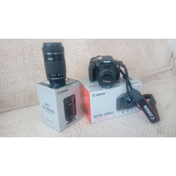 Sprzedam APARAT CANON EOS 2000D z obiektywem