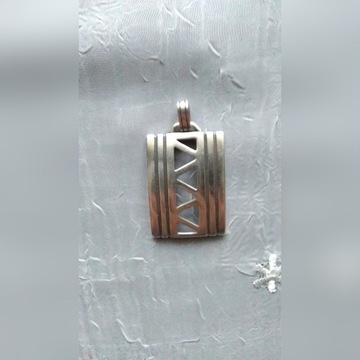 Wisiorek naszyjnik srebro  925 duży  3 cm x 5,5 cm