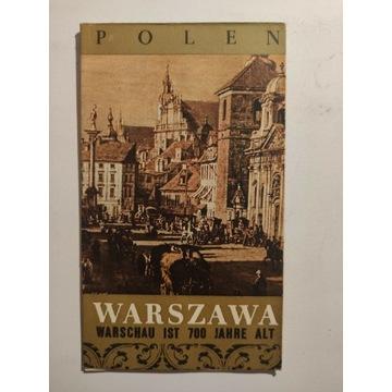 Ulotka PRL - Warszawa 1965 Warschau ist 700 jahre