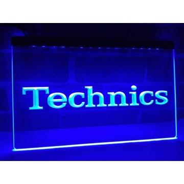Technics Lampka LED neon komplet Gramofon winyle
