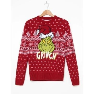 Sweter z Grinchem M czerwony