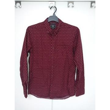 Bordowa koszula męska S slim fit