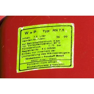 Naczynie przeponowe Junkers W + P RN 7,5  7,5 L