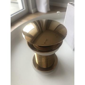 Korek umywalkowy Rea klik-klak Rose Gold