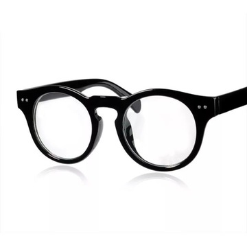 Okulary retro, vintage, zerówki UV400,