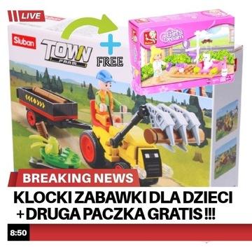 Klocki zabawki dla dzieci+druga paczka GRATIS !!!
