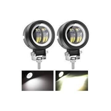 Światła przeciwmgielne okrągłe LED Angel Eye