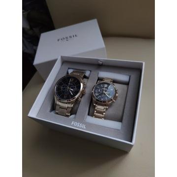 Fossil BQ2400 set zestaw dwa zegarki męski damski