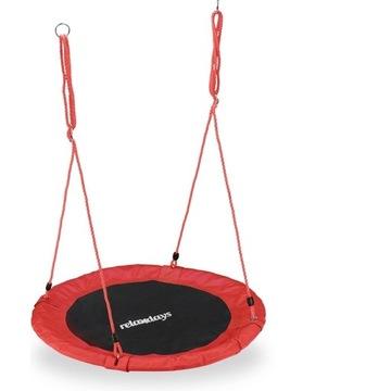 Huśtawka Bujaczka dla dzieci okrągła 90cm taras