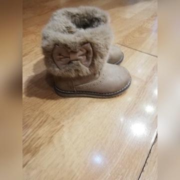 Buty dziewczęce zimowe Smyk roz 22