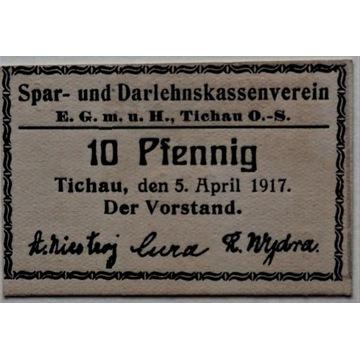 Tichau , Tychy , 10 fenigów , 1917 r