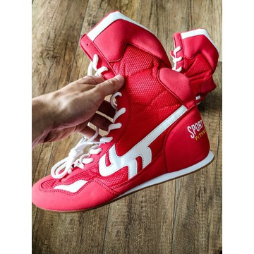 Buty bokserskie czerwone rozmiar 42. Nieużywane!