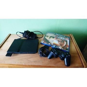 Konsola Sony PlayStation 2 ps2+ Pad + karta + 2gry